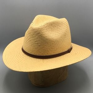 Woolrich Mens Straw Hat Wide Brim